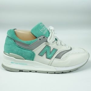NB 997  White Mint Green Suede Leather Shoes